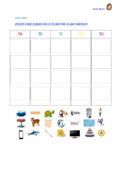 Interactive worksheet Letra T: ficha 6