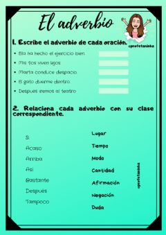 Interactive worksheet El adverbio