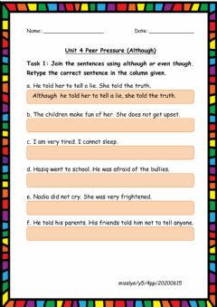 Interactive worksheet 4 Peer Pressure