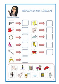 Interactive worksheet Asociaciones lógicas
