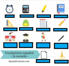 Interactive worksheet Materiales escolares
