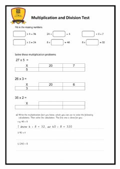 Interactive worksheet Multiplication and Division Test
