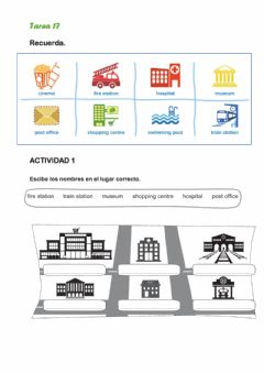 Interactive worksheet Review Subjects and places