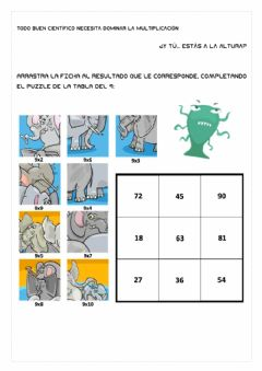 Interactive worksheet Multiplicaciones y divisiones