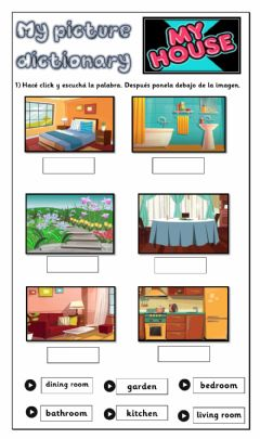 Interactive worksheet Picture Dictionary - Parts of the House