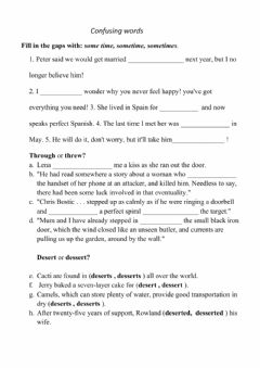 Interactive worksheet Confusing words