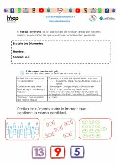 Interactive worksheet Números del 1 al 20