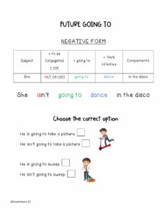 Interactive worksheet Future going to