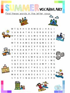 Interactive worksheet Find these words in the letter soup.