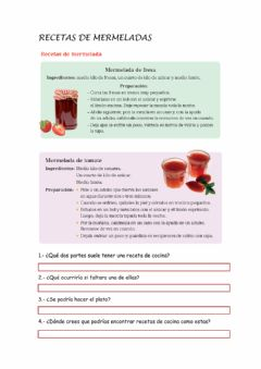 Interactive worksheet Recetas