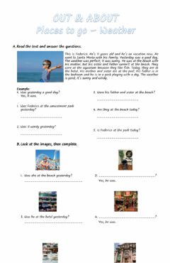 Interactive worksheet Out & about