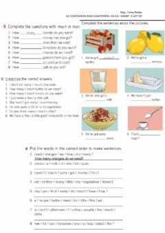 Interactive worksheet Containers  and quantifiers