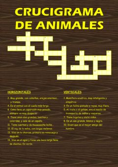 Interactive worksheet Crucigrama de Animales