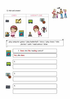 Interactive worksheet Extra practice 4form
