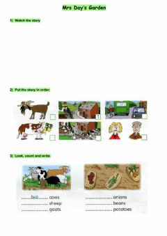 Interactive worksheet Mrs Day's Garden
