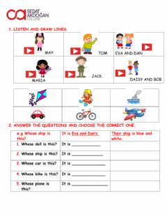 Interactive worksheet Possessives