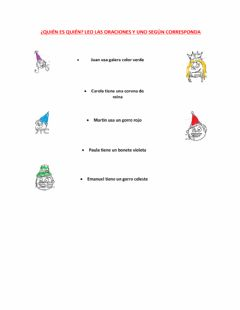 Interactive worksheet Act 4 Los Sombreros de Mary
