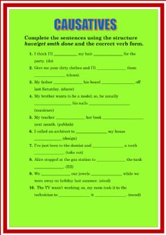 Interactive worksheet Causatives