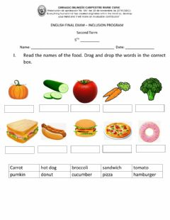 Interactive worksheet Food and Health