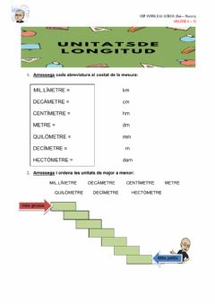 Interactive worksheet Canvis mesures longitud