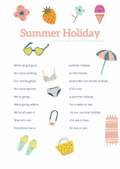 Interactive worksheet Summer Holiday
