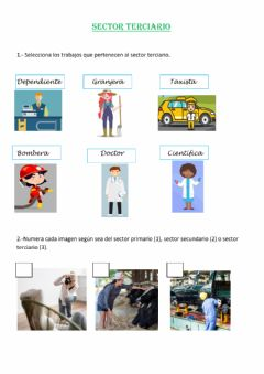 Interactive worksheet El sector terciario