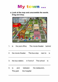 Interactive worksheet My town...