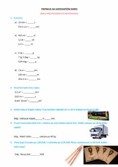 Interactive worksheet Merske enote