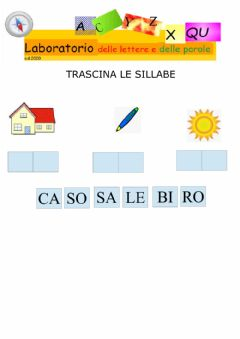 Interactive worksheet Trascina le sillabe