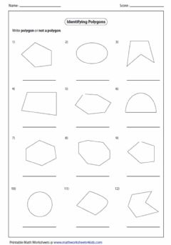 Interactive worksheet Identify polygons