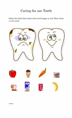 Interactive worksheet Caring for the Teeth