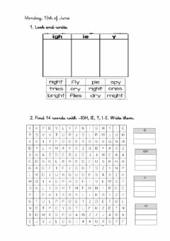 Interactive worksheet IGH IE I-E Y Revision