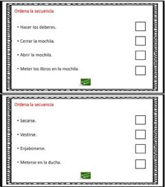 Interactive worksheet Ordenar la secuencia 5