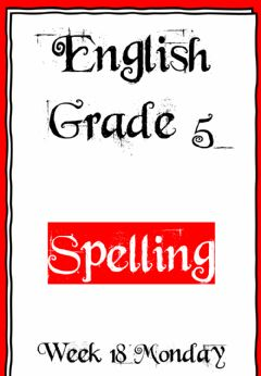 Interactive worksheet Week 18 - Spelling - Monday 5