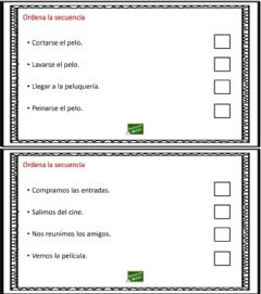Interactive worksheet Ordenar la secuencia 7