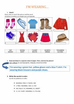 Interactive worksheet My favourite clothes
