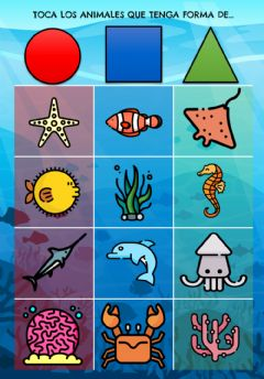Interactive worksheet Animales con forma