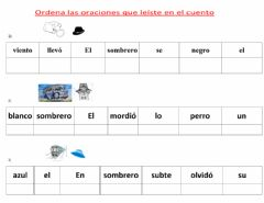 Interactive worksheet Act 2.2los Sombreros de Mary