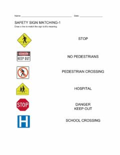 Interactive worksheet Safety signs-1