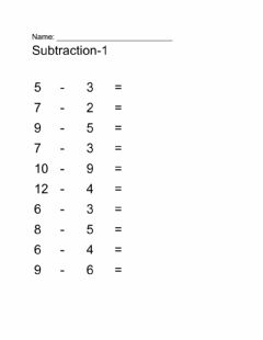 Interactive worksheet Subtraction-1
