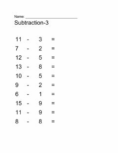 Interactive worksheet Subtraction-3