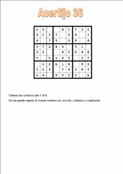 Interactive worksheet Acertijo 36