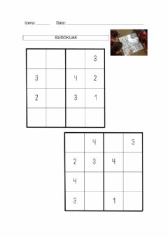 Interactive worksheet Sudokuak 2