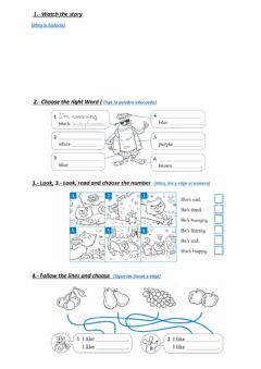Interactive worksheet Clothes and food