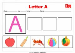Interactive worksheet Letter A