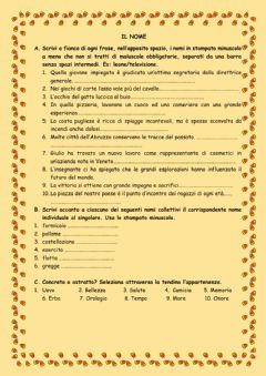 Interactive worksheet Il nome