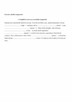 Interactive worksheet Save the planet - double comparatives