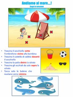 Interactive worksheet Andiamo al mare!