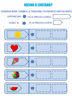Interactive worksheet Vicino o lontano?
