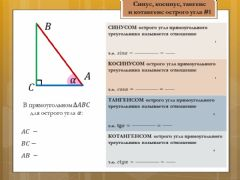 Interactive worksheet Синус, косинус, тангенс, котангенс 1